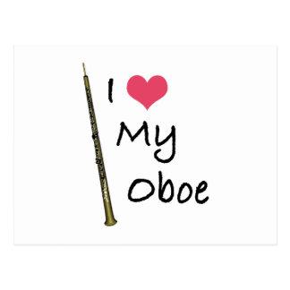 I Love My Oboe Postcard
