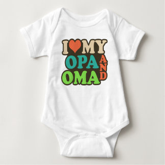 i love my oma and opa baby bodysuit