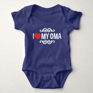 I Love My Oma Baby Bodysuit