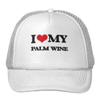 I Love My PALM WINE Mesh Hat