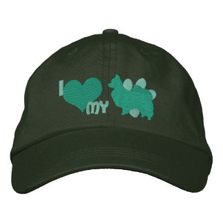 I Love my Papillon Green Baseball Cap