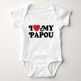 I Love My Papou Baby Bodysuit