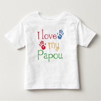 I Love My Papou (Handprints) Toddler T-Shirt