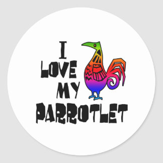 I Love My Parrotlet Classic Round Sticker