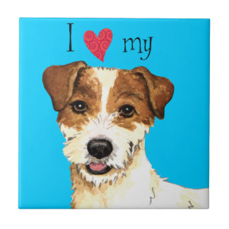 I Love my Parson Russell Terrier Tiles