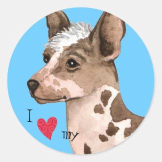 I Love my Peruvian Inca Orchid Stickers