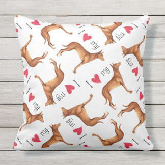 I Love my Pharaoh Hound Outdoor Cushion