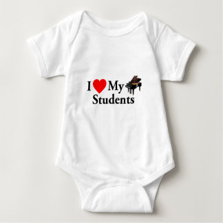 I Love My Piano Students Baby Bodysuit