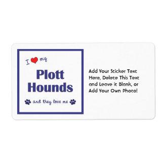 I Love My Plott Hounds (Multiple Dogs) Shipping Label