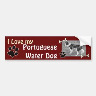 I love my Portuguese Water Dog Bumper Sticker