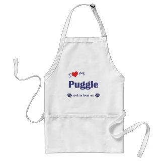 I Love My Puggle (Male Dog) Standard Apron