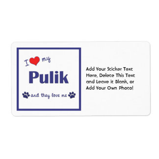 I Love My Pulik (Multiple Dogs) Shipping Label