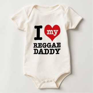 I love my Reggae Dancer Daddy Baby Bodysuit