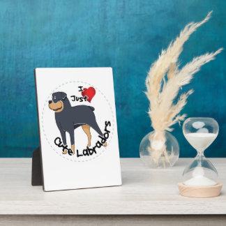 I Love My Rottweiler Dog Plaque
