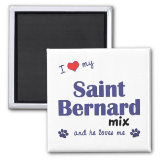 I Love My Saint Bernard Mix (Male Dog) Magnet