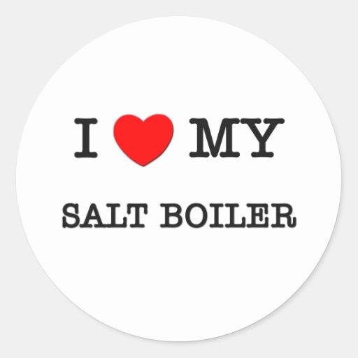 I Love My SALT BOILER Stickers