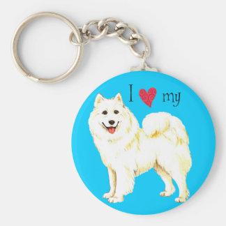 I Love my Samoyed Key Ring