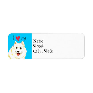 I Love my Samoyed Return Address Label