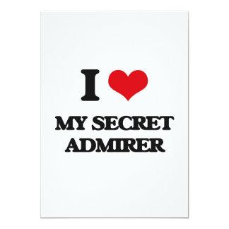 "I love My Secret Admirer 5"" X 7"" Invitation Card"