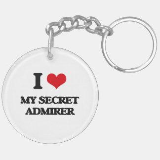 I love My Secret Admirer Double-Sided Round Acrylic Keychain