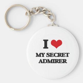 I love My Secret Admirer Basic Round Button Keychain