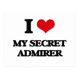 I love My Secret Admirer Postcard