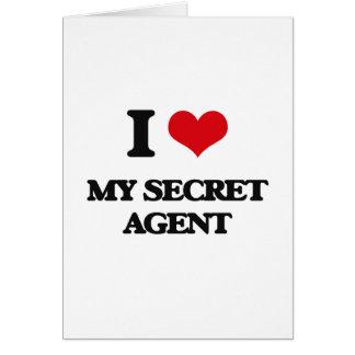 I Love My Secret Agent Greeting Card