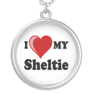 I Love My Sheltie Necklace