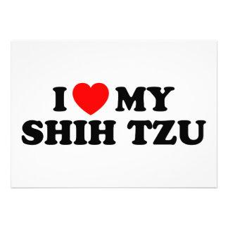 I Love my Shih Tzu Invitation