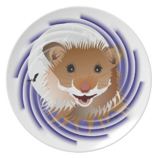 I love my small hamster plate