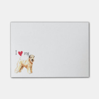 I Love my Soft Coated Wheaten Terrier Post-it® Notes