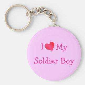 I Love My Soldier Boy Keychains