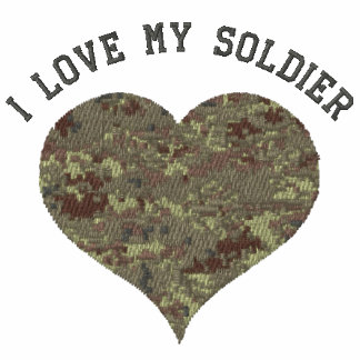 I Love My Soldier Camouflage Heart