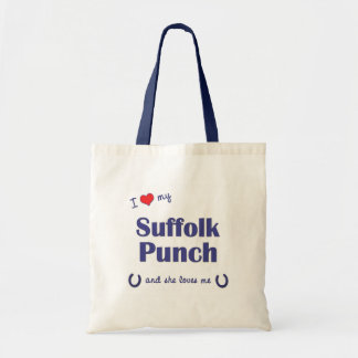 I Love My Suffolk Punch (Female Horse) Bags