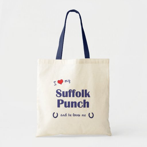 I Love My Suffolk Punch (Male Horse) Tote Bag