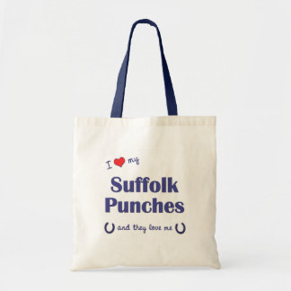 I Love My Suffolk Punches (Multiple Horses) Bags