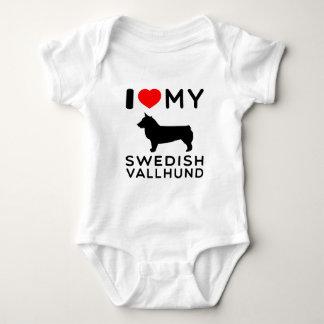 I Love My Swedish Vallhund Baby Bodysuit