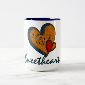 I love my sweetheart vintage heart mugs