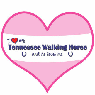 I Love My Tennessee Walking Horse (Male Horse) Photo Cutout