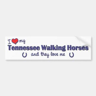 I Love My Tennessee Walking Horses (Multi Horses) Car Bumper Sticker