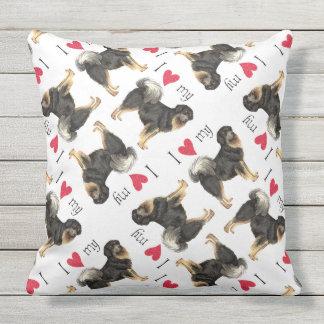 I Love my Tibetan Mastiff Outdoor Cushion