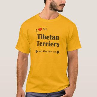 I Love My Tibetan Terriers (Multiple Dogs) T-Shirt
