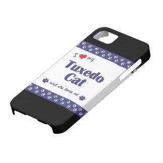 I Love My Tuxedo Cat (Female Cat) iPhone 5 Cases