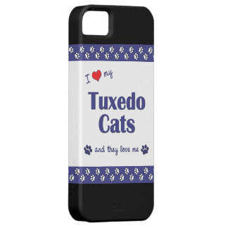 I Love My Tuxedo Cats (Multiple Cats) Barely There iPhone 5 Case