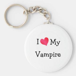 I Love My Vampire Key Ring