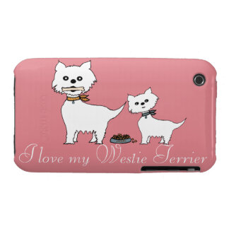 I love my Westie Terrier iPhone 3 Covers