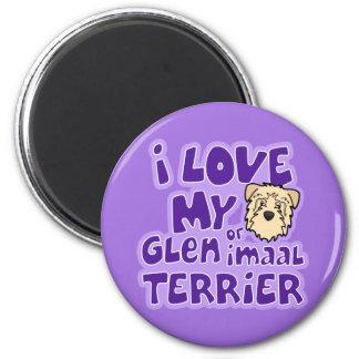 I Love My Wheaten Glen of Imaal Terrier 6 Cm Round Magnet