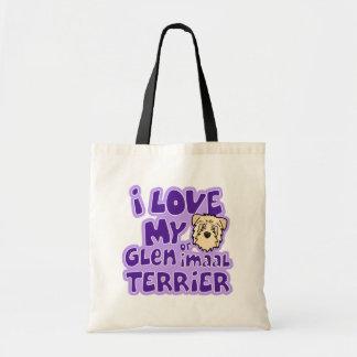 I Love My Wheaten Glen of Imaal Terrier Budget Tote Bag