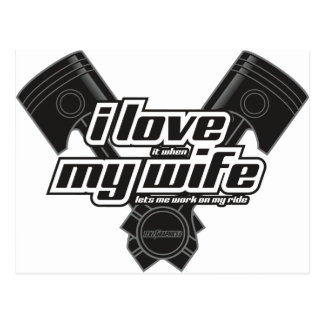 I love my wife - RIDE Postcard