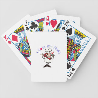 I Love My Work! Bicycle Playing Cards